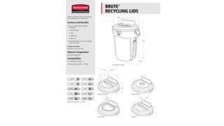 BRUTE® Recycling Lids Spec Sheet