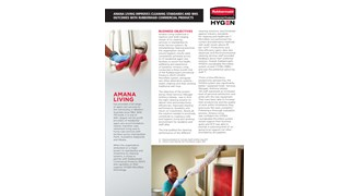 Amana Living improves cleaning standards and WHS outcomes with Rubbermaid Commercial Products