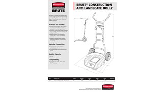 BRUTE® Outdoor Accessories Spec Sheet