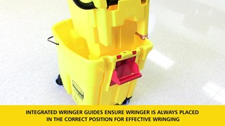 Learn how to attach a wringer to a WaveBrake® mop bucket.