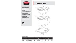 Detailed product specifications of the RCP Compost Bins product line