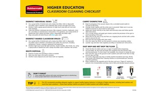 Use this thorough checklist to guide reopening higher education facilities and ensure a clean, inviting environment.