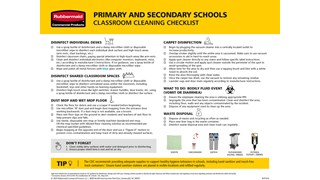 Primary and Secondary School Cleaning Checklist