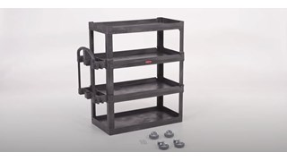 Quick and easy tutorial on how to assemble the RCP 4-Shelf Heavy-Duty Utility Cart