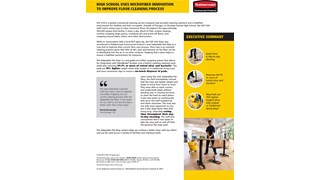 Read the testimonial of a high school that used our microfiber mop innovation to improve its floor cleaning process.
