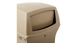 The Rubbermaid Commercial Ranger® Classic Waste Bins feature Rubbermaid's famous durability, modern styling, and easy-to-service design.