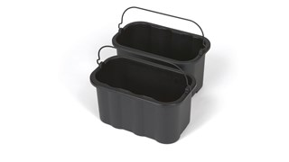 The Rubbermaid Commercial 9.5L Caddy provides a quick and easy way to clean in tight places.