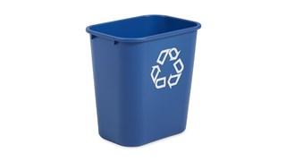 Le collecteur de tri sélectif Rubbermaid est peu encombrant, économique et  offre une solution de recyclage simple et efficace au bureau.