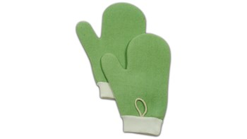 Die HYGEN™ Mikrofaser-Handschuhe von Rubbermaid Commercial sind doppelseitig, um die Reinigung von Ritzen und unebenen Flächen zu erleichtern.