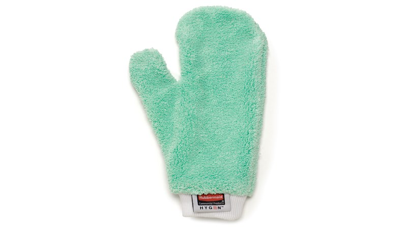 The Rubbermaid Commercial HYGEN™ Microfibre Mitts are double-sided to help make cleaning easier in crevices and around irregular surfaces.