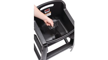 Sturdy Chair™ High Chairs make safety and cleanliness a priority for your youngest patrons. Microban® technology provides allover protection from bacteria growth that can cause odours and staining and complies with FDA standards.