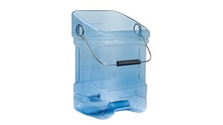 The Rubbermaid Commercial Ice Bucket Tote provides sanitary, safe transport for ice.