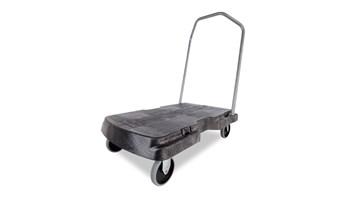 Triple Trolley with User-Friendly Handle, Standard-Duty with 5 In castors, Black