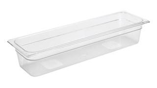 Bacs coulissants transparents incassables disponibles dans les tailles Gastronorm standard