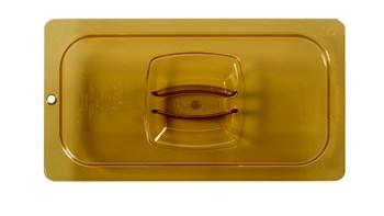 Deckel mit Stiftloch für besonders beanspruchte GN-Einsatzschale für warme Speisen: mit Griff und Stiftloch für hygienische Trocknung