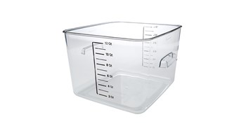 11L Square Storage Container Clear