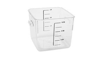 5.7L Square Storage Container Clear