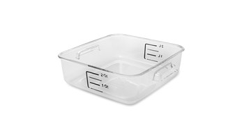 2L Square Storage Container Clear