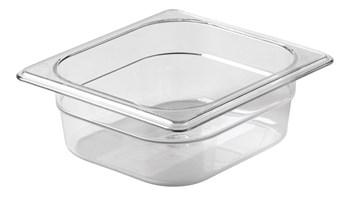 Transparante, breukvaste gastronormbakken volgens de industriestandaard, gastronormmaten