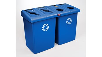 The Rubbermaid Commercial Glutton® Waste Bin is ideal for high-traffic areas.