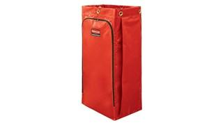 Zippé à l'avant pour le vider plus facilement, ce sac Rubbermaid collecte jusqu'à 129l de déchets (20% en plus que les sacs pour chariots traditionnels).