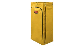 128L Vinyl Bag for High-Capacity Janitorial Cleaning Carts, Yellow