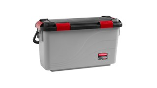 The Rubbermaid Commercial HYGEN™ Microfibre Charging Bucket is ideal for healthcare facilities, with a bucket designed to prevent oversaturation of Microfibre wet pads.