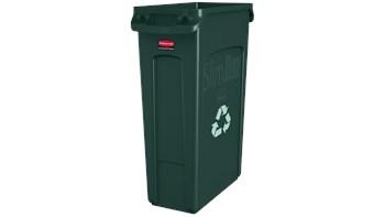 Vented Slim Jim® Recycling 87L Green