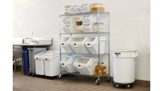 Slim Jim® Stainless Steel Dolly is designed to support and transport Vented Slim Jim® containers smoothly and efficiently through any commercial facility.