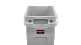 The Rubbermaid Commercial Slim Jim® Under-Counter containers are a purpose-built solution for space efficient waste disposal under the counter.