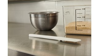 The Rubbermaid Commercial Rubber Spatula features a true rubber blade moulded directly onto the handle.