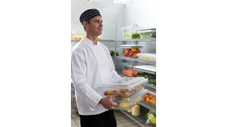 The Rubbermaid Commercial Food Storage  Lid for Food Tote Box helps reduce food spoilage costs.