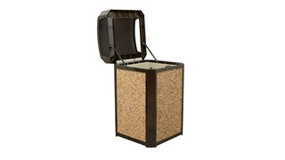 Decorative stone panel option for the Landmark Series® refuse collection. Can be used for both indoor and outdoor areas, including building entrances, Reception Areas and Shopping Centres