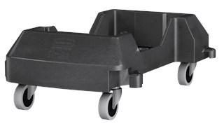 Ce socle en résine Rubbermaid est conçu pour assurer le soutien et le transport en douceur et efficace des collecteurs Slim Jim® avec conduits d'aération dans tous les établissements commerciaux.