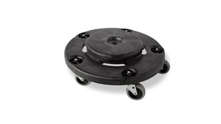 Rubbermaid Commercial BRUTE® Dolly smoothly and efficiently transports 76 l, 121 l, 167 l, 208 L BRUTE® containers easily and quickly.