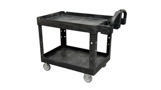 The Rubbermaid Commercial Heavy-Duty Utility Cart is a versatile, durable cart that can support up to 226 kg.