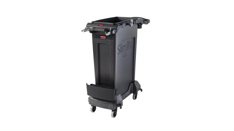 Das Slim Jim® Rim Caddy-Kit von Rubbermaid Commercial ist ein zweckorientiertes System zur Aufbewahrung und zum Transport der gängigsten Reinigungsgeräte.