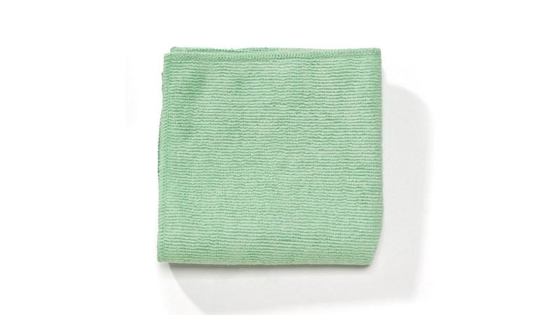 Das Professional-Mikrofasertuch von Rubbermaid Commercial ist ein hochwertiges Mikrofaserprodukt, das im Vergleich zu herkömmlichen Tüchern eine hervorragende Reinigungsleistung und Entkeimung bietet.