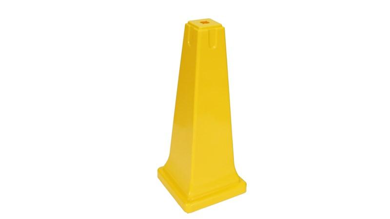 Voici un cône de sécurité jaune de 90cm visible de loin.