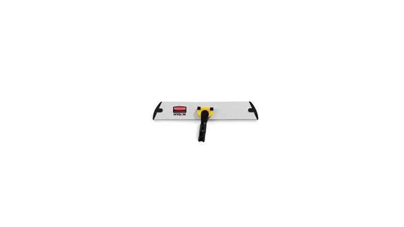 Die HYGEN™-Quick-Connect-Halter von Rubbermaid Commercial bieten ein flaches Profil und passen leicht unter Möbel und Geräte.