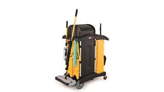 The Rubbermaid Commercial HYGEN™ PULSE™ Single-Sided Mop Kit cleans more square feet in less time. Industry-best Microfibre, onboard reservoir, and use-controlled release of solution mean cleaner floors faster, easier, and more effectively.