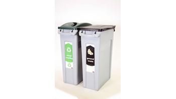 Met het nieuwe Slim Jim-starterspakket kunt u onmiddellijk beginnen met recycling in twee afvalstromen