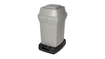 High capacity bins for disposing of used nappies. Convenient touch-free pedal operation.