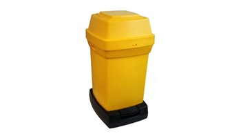 Abfallbehälter mit hoher Kapazität für die Entsorgung von gebrauchten Windeln.