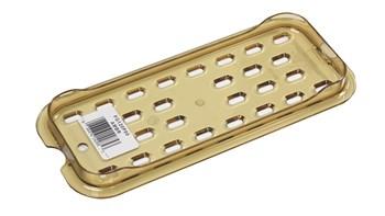 Der GN-Behälter für warme Speisen von Rubbermaid Commercial ist im Gebrauch leiser als Metall. Er bricht, verbiegt und verbeult nicht.