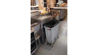 The Rubbermaid Commercial Vented Slim Jim® Stainless Steel Dolly is designed to support and transport Vented Slim Jim® containers smoothly and efficiently through any commercial facility.