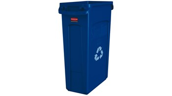 Vented Slim Jim® Recycling 87L Blue
