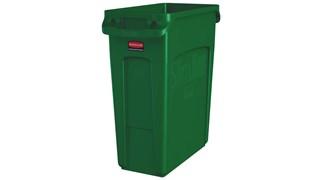 Die Slim Jim®-Behälter mit Belüftungskanälen von Rubbermaid Commercial bieten beispiellose Leistung in engen Räumen.