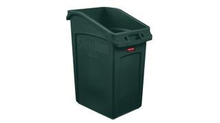 Slim Jim® Untertischbehälter von Rubbermaid Commercial sind eine zweckorientierte Lösung für die platzsparende Abfallentsorgung unter dem Tisch.