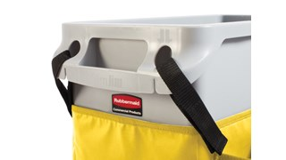 The Rubbermaid Commercial Slim Jim® Caddy Bag Maximises space efficiency by providing onboard storage for all of the supplies needed for cleaning and liner changes on-the-go.